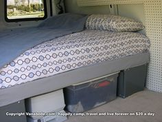 camper bed set up