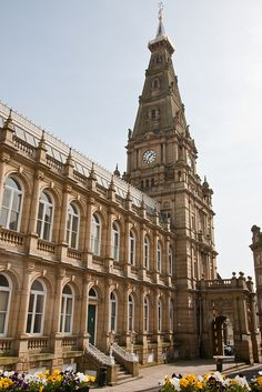 Halifax Town Hall, West Yorkshire, England