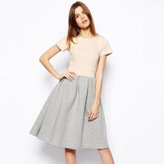 Brand New With Tags Asos Scuba Midi Dress