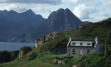Ah, Scotland...looking over to a self-catering cottage at Elgol with Skye's Loch Scavaig and Cuillin mountains in the background.