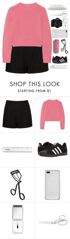 """DEEP IN MY BONES"" by constellation-s ❤ liked on Polyvore featuring Topshop, Miu Miu, adidas, Surratt and Givenchy"