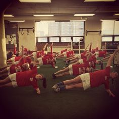 BU Women's Soccer in the Gym