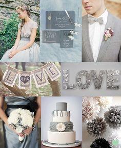 Grey Wedding Styling Mood Board from The Wedding Community
