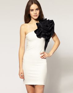 One Shoulder Corsage Dress