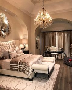 Rustic Southwest Decor 46 Amazing Luxury Champagne Bedroom Ideas With Elegant Style.Rustic Southwest Decor 46 Amazing Luxury Champagne Bedroom Ideas With Elegant Style Master Bedroom Design, Dream Bedroom, Home Decor Bedroom, Modern Bedroom, Bedroom Designs, Bedroom Furniture, Master Suite, Furniture Decor, Furniture Stores