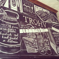 Amazing new chalk wall in Trohv DC done by staff favorite Paige V.
