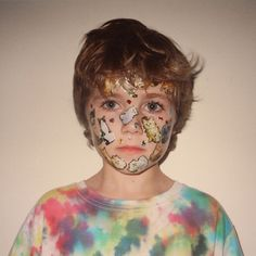 Child Hood Memory project.  Tie Dye .. Meow.    cat face by scotty w, via Flickr