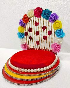 Thali Decoration Ideas, Decoration For Ganpati, Diwali Decorations, Festival Decorations, Diy Wedding Decorations, Cd Crafts, Jute Crafts, Flower Crafts, Diy And Crafts