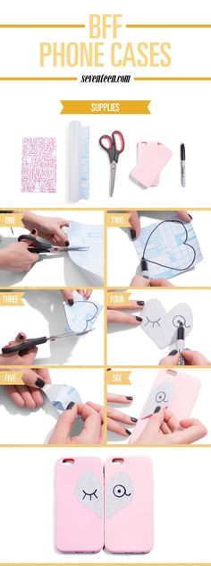 How to Make BFF Phone Cases