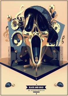 /// Black and gold /// by Alexis Persani, via Behance
