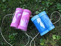 Cardboard Tube binoculars by Crafts by Amanda.