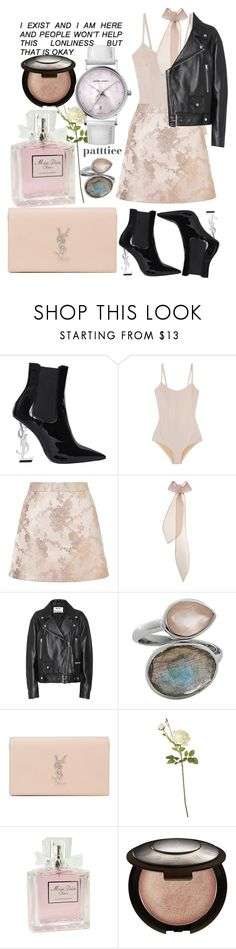 """160917"" by patttiee ❤ liked on Polyvore featuring Yves Saint Laurent, Base Range, Miss Selfridge, Emilia Wickstead, Acne Studios, Juvi, OKA, Christian Dior, Becca and Georg Jensen"