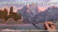 Hundreds of Artists Are Doing It > Live, online art workshops with Johannes Vloothuis! ArtistsNetwork.com #painting #landscapes #art