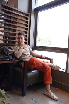Orange pants. Aka GTH pants.