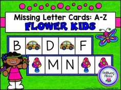 Missing Letter Cards: Flower Kids ($)