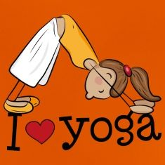 I-love-yoga---Me-encanta-el-yoga---Chica-practican-Camisetas.jpg (235×235)