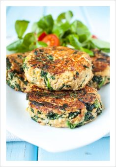 Delicate vegan cutlets with tofu and spinach