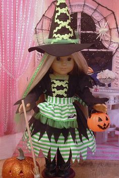 Happy Halloween Witch Costume for American by MyGirlClothingCo