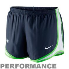 Nike Seattle Seahawks Women's Tempo Performance Running Shorts - Steel Blue