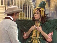 Carol Burnett and Harvey Korman on the 'Carol Burnett Show.'  The Gone With the Wind dress.