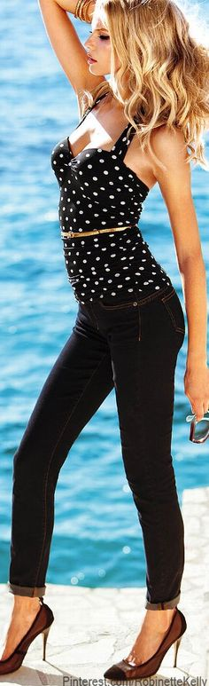 Victoria's Secret | Skinny Jeans, Halter Top♥✤ | Keep the Glamour | BeStayBeautiful