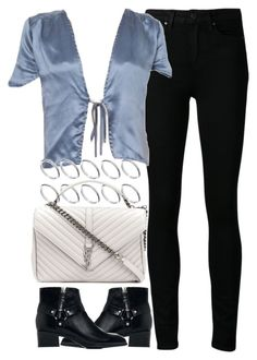 """""""Untitled #4206"""" by maddie1128 ❤ liked on Polyvore featuring Paige Denim, ASOS, Yves Saint Laurent and Zara"""
