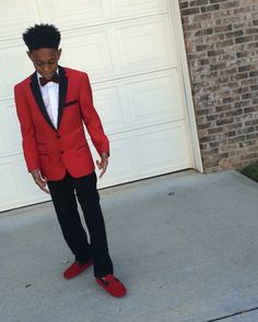 Boys prom red cute swag
