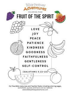 Fruit Of The Spirit Coloring Page For Kids