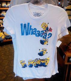 Despicable Me Minions Whaaaa? Teen Glitter T-Shirt Minion Mayhem NEW (7/12)
