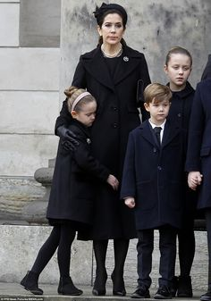 Danish royal family lays Prince Henrik, The Prince Consort to rest. Feb. 20, 2018