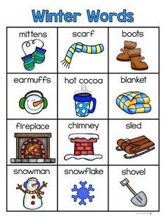 Winter Words Booklet by Laura Martin Preschool Lesson Plans, Preschool Activities, Winter Fun, Winter Theme, Winter Words, Winter Activities, Preschool Winter, Kindergarten Literacy, Language Activities