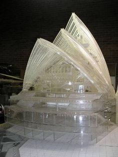 The perspex model, which took seven years to build, will be on display at the Faculty of Architecture, University of Sydney...