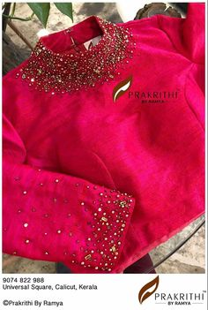 Top 51 Saree Blouse Designs (Latest and Stylish) - kredi Blouse Designs High Neck, Fancy Blouse Designs, Sari Blouse Designs, Designer Blouse Patterns, Pattern Blouses For Sarees, Designer Saree Blouses, Dress Designs, Blouse Styles, Stylish Blouse Design