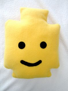 Lego Minifigure Pillow by YellowHeads on Etsy. $16.00, via Etsy.