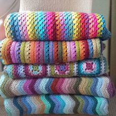 A tidy pile....from the top : Sunny : Cosy : Harmony : Cottage : Coast : yarn…