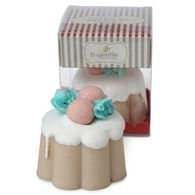Christmas Pudding White Iced Soap In Gift Box