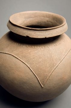 Africa | Palm wine vessel. Ibo - Nigeria (The same type of Palm wine that Okonkwo would've shared with his guests)