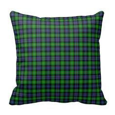 Tartan Plaid Pillow via Zazzle