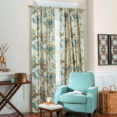 Sydney Floral Curtains have an insulated acrylic backing to keep you cool in the summer and warm in the winter.