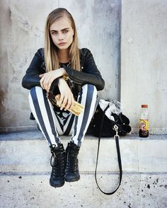 fate loves the fearless - striped pants