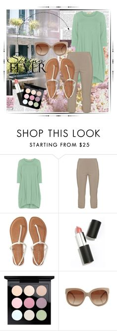 """Spring Fever: competition"" by kmcg3 ❤ liked on Polyvore featuring Isolde Roth, Twister, Thomsen Paris, Aéropostale, Sigma Beauty, MAC Cosmetics, STELLA McCARTNEY, OPI, plussize and SpringFever"