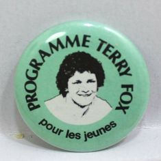 Programme Terry Fox Pour Les Jeunes Pin Badge Button Pinback Pins Badge, Programming, Fox, Buttons, Store, Ebay, Storage, Foxes, Computer Programming