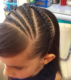 Little Girl Hairdos, Girls Hairdos, Girls Braids, Cool Braid Hairstyles, Braided Hairstyles For Black Women, Long Hair Designs, Black Girl Braids, Cool Braids, Different Hairstyles