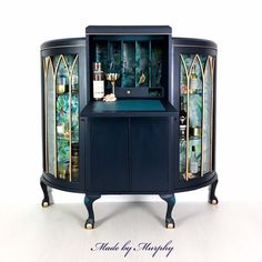 Informations About SOLD SOLD SOLD Peacock cocktail and drinks cabinet with bureau feature in blue Pin You can easily use Art Deco Furniture, Unique Furniture, Painted Furniture, Diy Furniture, Furniture Refinishing, Bespoke Furniture, Retro Furniture, Repurposed Furniture, Upcycled Furniture Before And After