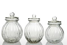 One Kings Lane - The Organized Pantry - Onion Jars with Glass Lids, Asst. of 3