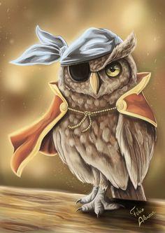 Speed Painting ~ Pirate Owl by Fabio Alencar