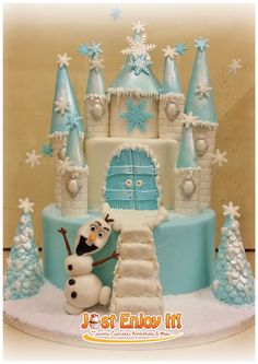 Disney Themed Cakes - Frozen Castle cake!