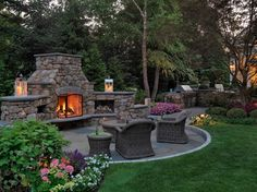 Lexington fireplace garden, MA. Sudbury Design Group.