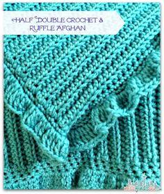 Half Double Crochet with Ruffle Afghan