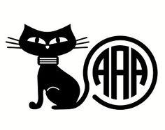 Black Cat Monogram, Halloween, SVG, DXF, Vector File for Cricut Design Space, Silhouette Studio Designer Edition and Vinyl Cutters